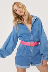 Nasty Gal Faux Leather Oversized Buckle Belt