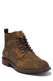 SKECHERS Ithica Camo Leather Lace-Up Boot