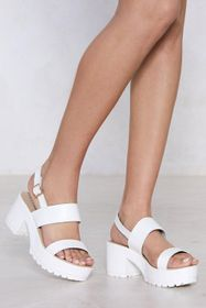 Nasty Gal Faux Leather Strappy Platform Sandals