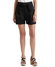 Stretch-Infused Paperbag Shorts