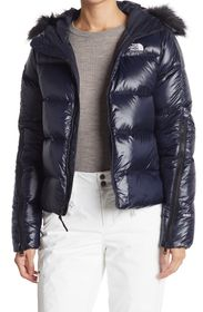 THE NORTH FACE Glades Short Down Faux Fur Hoodie J