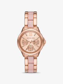 Michael Kors Rose Gold-Tone and Acetate Watch