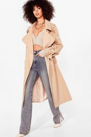 Nasty Gal Oversized Belted Longline Trench Coat
