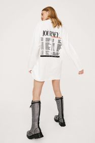 Nasty Gal The American Tour Graphic Tee Dress