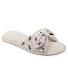 Women's Embroidered Jersey ECO Comfort Slipper wit