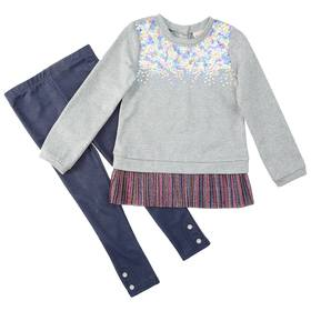 Girls (4-6x) Little Lass 2pc. French Terry Sequin