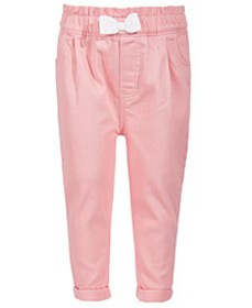 Toddler Girls Pink Denim Bow Jeans, Created for Ma