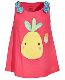 Toddler Girls Pineapple Cotton Top, Created for Ma