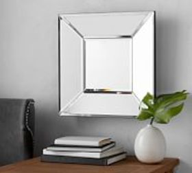 """Pottery Barn Beveled Glass Square Mirror 19"""" x 19"""""""