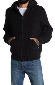 LEVIS Faux Shearling Lined Hooded Bomber Jacket