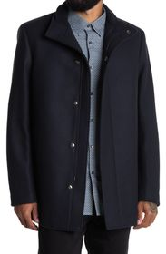 THEORY Clarence Traceable Wool Blend Overcoat