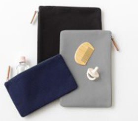 Pottery Barn Classic Wet/Dry Pouch, Set Of 3