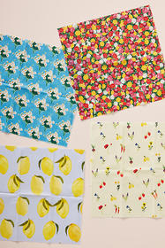 Anthropologie Patterned Beeswax Food Wraps, Set of
