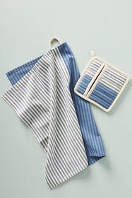 Anthropologie Trudy Pot Holder and Dish Towel Set