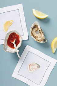 Anthropologie Oyster Shell Dish & Spoon Gift Set