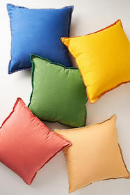 Anthropologie Waxed Canvas Pillow