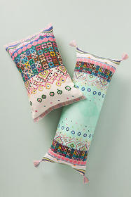 Anthropologie Embroidered Soumya Pillow