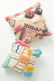 Anthropologie Hand-Tufted Abstract Pillow