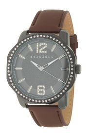 SEAN COMBS Men's 3 Hand Synthetic Leather Strap Wa