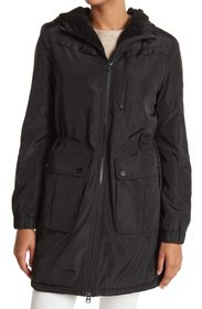 LUCKY BRAND Water-Resistant Hooded Faux Shearling