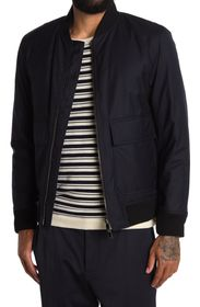 THEORY Brigade Zip Front Wool Blend Jacket