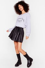 Nasty Gal Faux Leather Pleated Mini Skirt