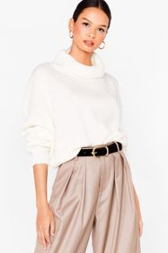 Nasty Gal Slouchy Knitted Turtleneck Sweater