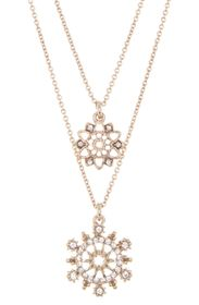 MARCHESA Layered Double Pendant Necklace