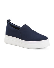 Stretch Fabric Slip On Sneakers