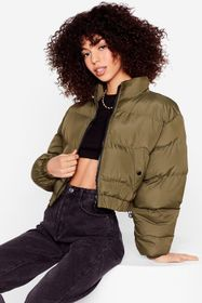 Nasty Gal Cover Your Back Cropped Padded Jacket