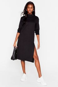 Nasty Gal Stuck in the Midi High Neck Relaxed Dres