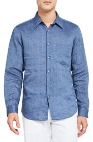 THEORY Irving Slim Button Front Shirt