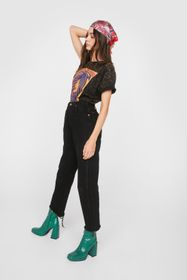 Nasty Gal Vintage High Waisted Distressed Straight
