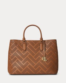 Ralph Lauren Perforated Leather Large Marcy Satche