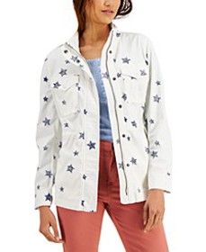 Printed Twill Zip-Front Jacket, Created for Macy's
