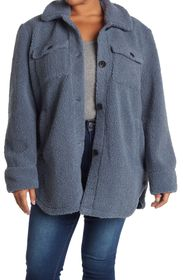 FRENCH CONNECTION Faux Shearling Teddy Shacket