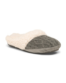Cable Faux Berber Slippers