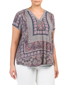 Plus Placed Print Top