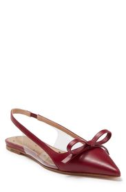 RED VALENTINO Pointed Toe Leather Slingback Flat (