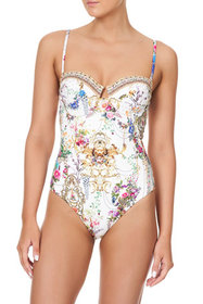 Camilla Floral Sweetheart One-Piece Swimsuit