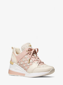Michael Kors Georgie Logo and Leather Trainer