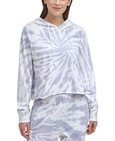 Sport Women's Cotton Tie-Dyed Cropped Hoodie