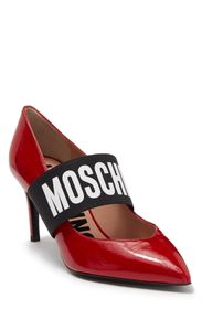 MOSCHINO Pointed Toe Patent Leather Pump