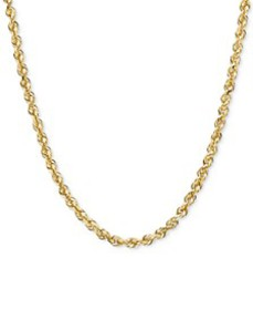 """18-22"""" Diamond-Cut Rope Chain Necklace (2-1/2mm) i"""