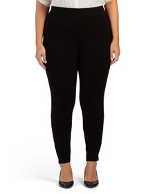 Plus Pull On Jersey Pants With Stretch