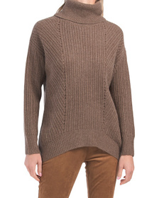 Cashmere Chunky Ribbed Pointelle Sweater