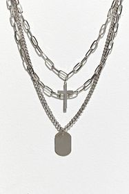 UO Cross Tag Layering Necklace