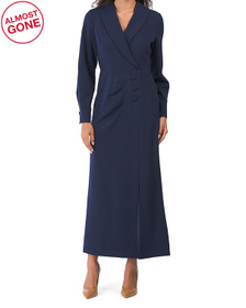 Faux Wrap Dress With Buttons