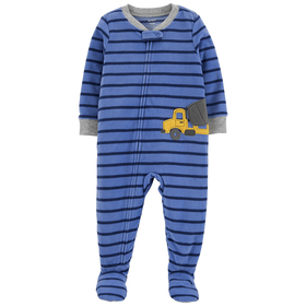 Toddler Boy Carter's® Construction Striped Footed