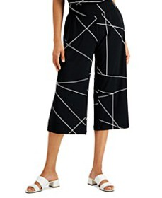 Printed Wide-Leg Culotte Pants, Created for Macy's